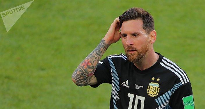 Lionel Messi, jugador de Argentina