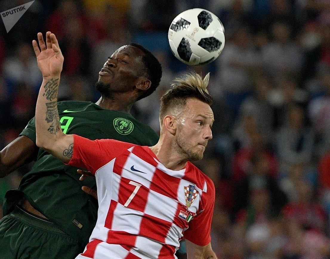 Iván Rakitic, a la derecha, jugador de Croacia