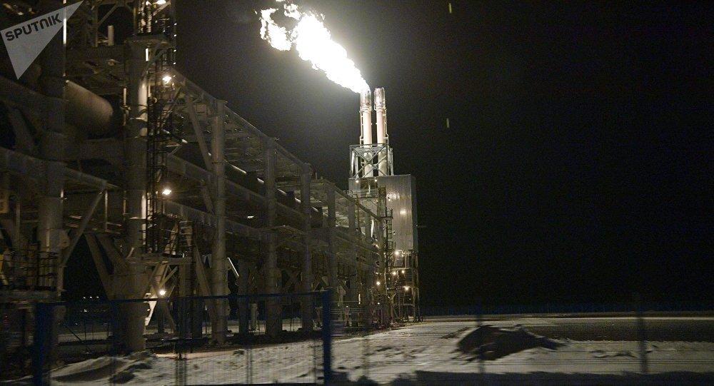 Una planta de licuefacción de gas natural