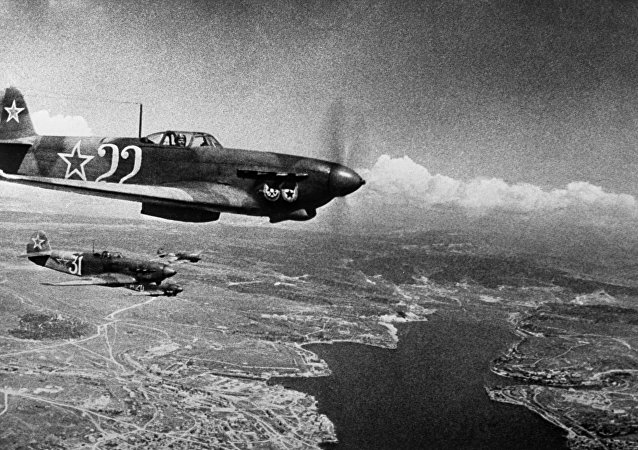 Unos aviones soviéticos durante la Gran Guerra Patria, archivo