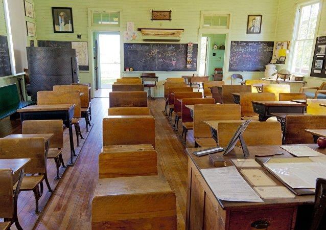 Un salón de clases