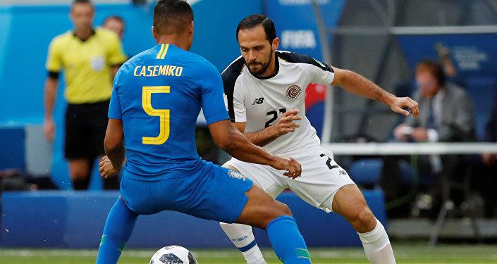 El partido entre Brasil y Costa Rica