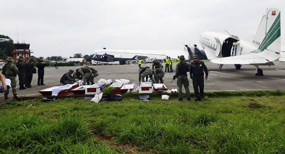 Cadáveres de periodistas ecuatorianos asesinados