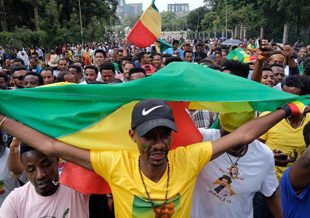 La manifestación en Etiopía
