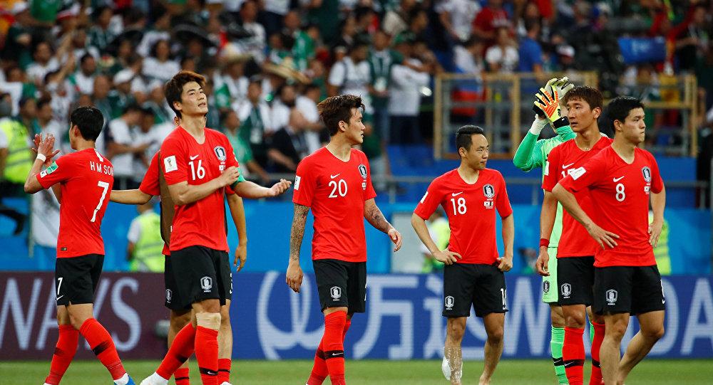 Jugadores de la selección surcoreana