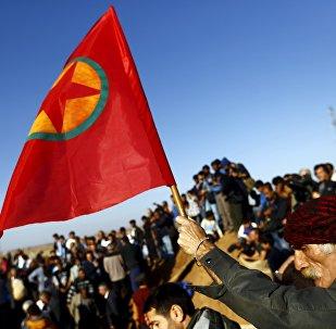 La bandera de PKK (archivo)