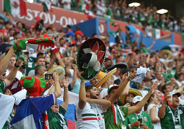 Los hinchas en el partido México-Corea del Sur