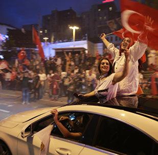 Los partidarios del presidente turco y el Partido de la Justicia y el Desarrollo (AKP)