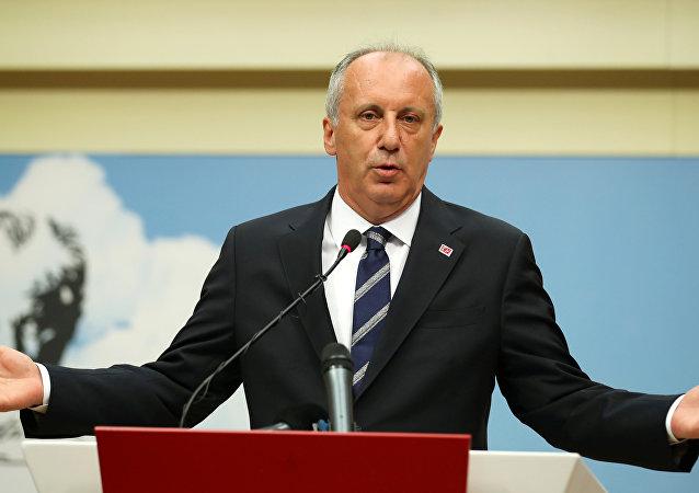 El candidato opositor Muharrem Ince