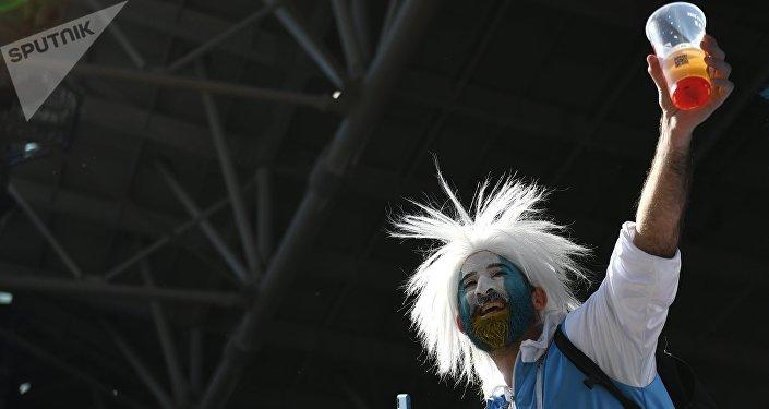 Un hincha argentino