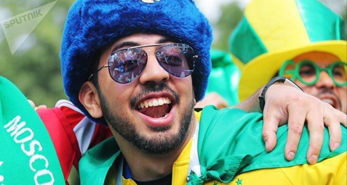 Hincha brasileño en Rusia