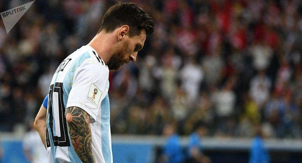 Lionel Messi, delantero de la selección argentina, una derrota por goleada ante Croacia