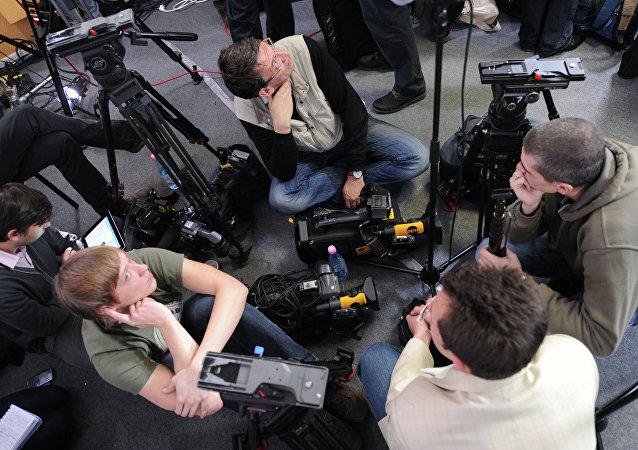 Periodistas rusos (archivo)