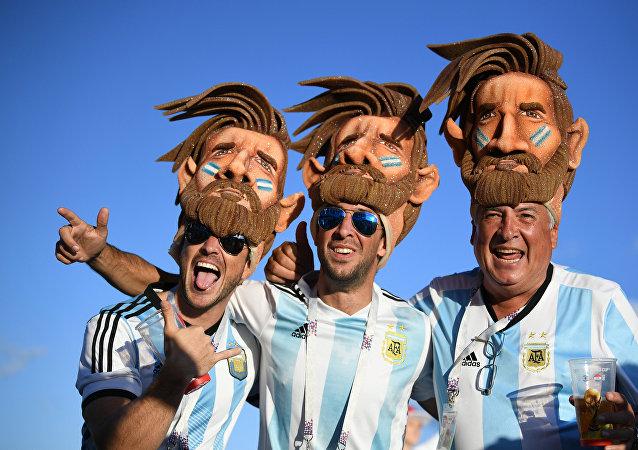 Los hinchas argentinos