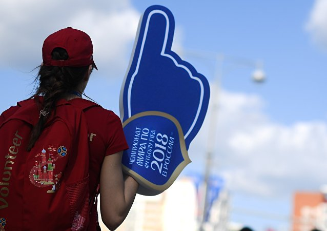 Un voluntario del Mundial 2018 de Rusia (imagen referencial)
