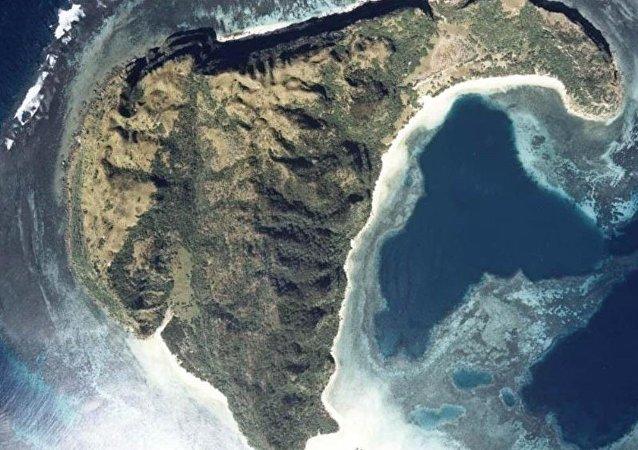 Una isla no habitada en Japón, foto archivo