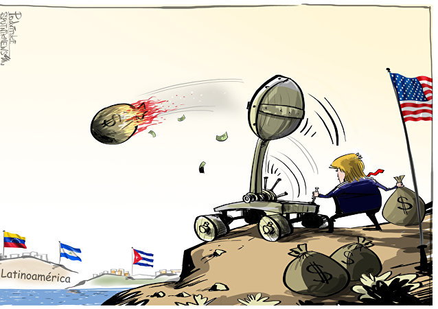 EEUU bombardea América Latina con sacos de dinero