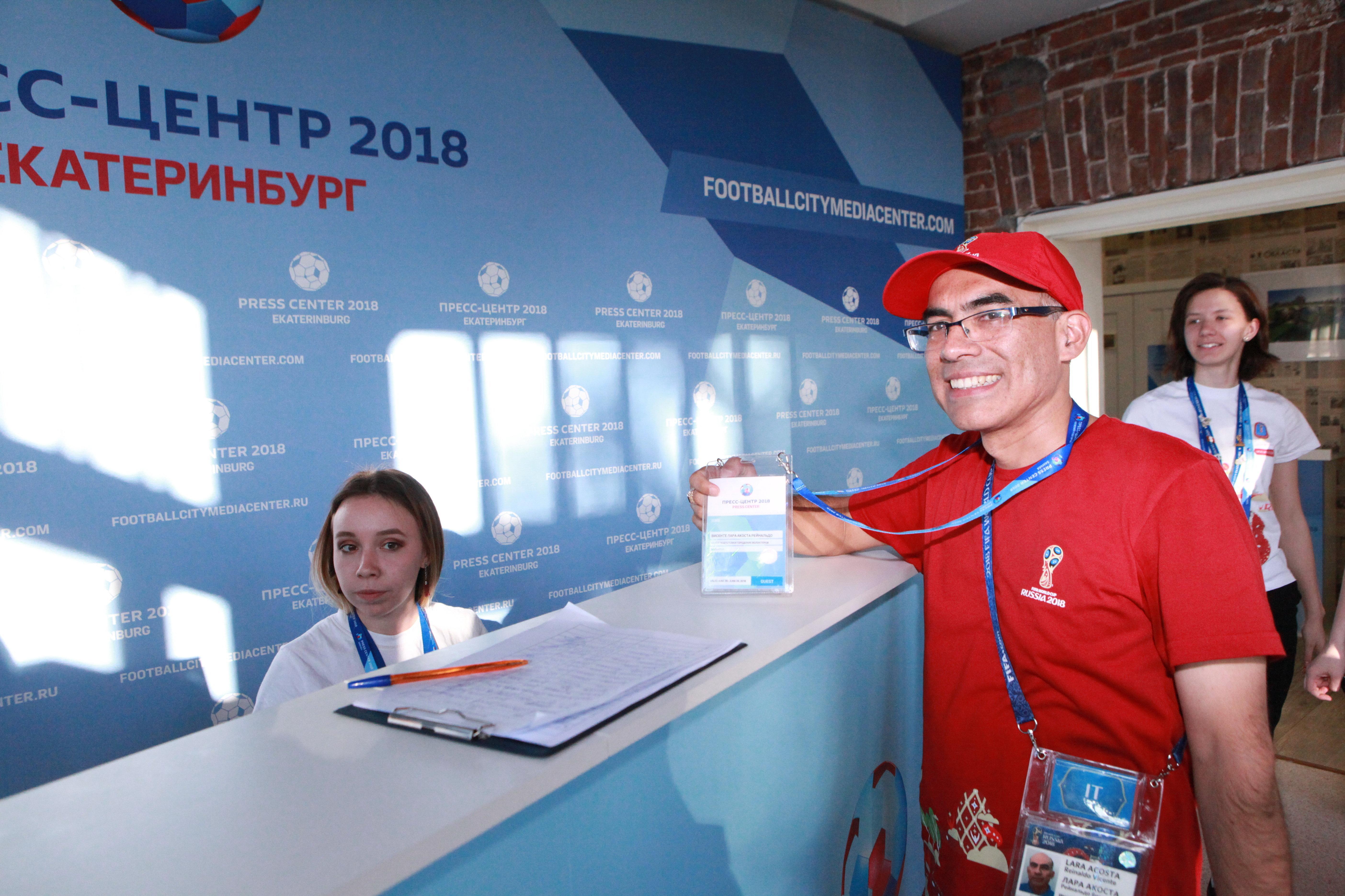 Reinaldo Vicente Lara Acosta, voluntario peruano en el Mundial de fútbol 2018