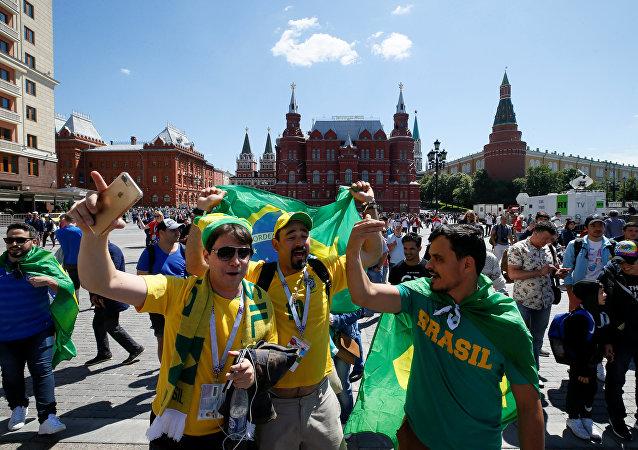 Hinchas brasileños en Rusia (imagen ilustrativa)