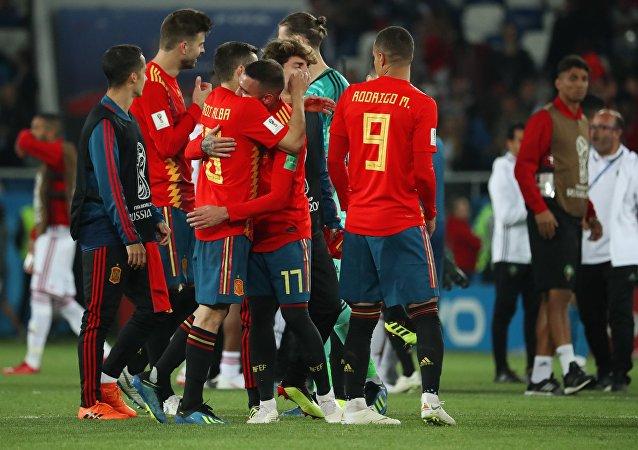 Los jugadores de la selección española en el Mundial de Rusia