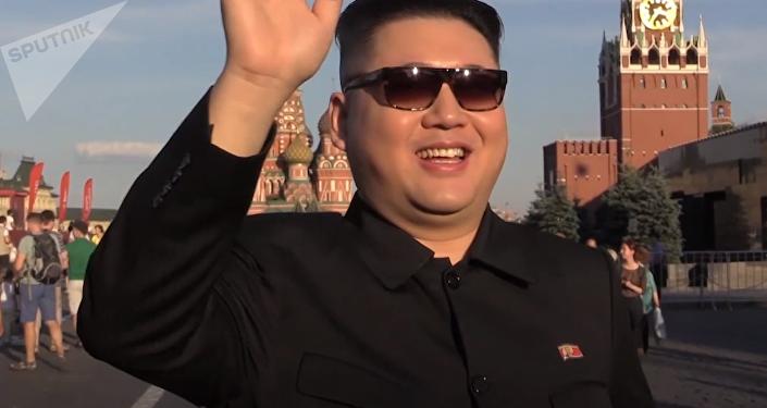 El imitador de Kim Jong-un en la Plaza Roja