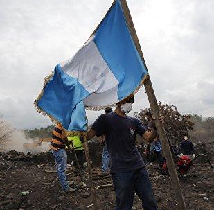 La bandera de Guatemala