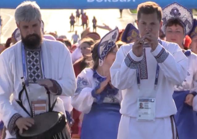 Así se celebra el 'jorovod' en Saransk