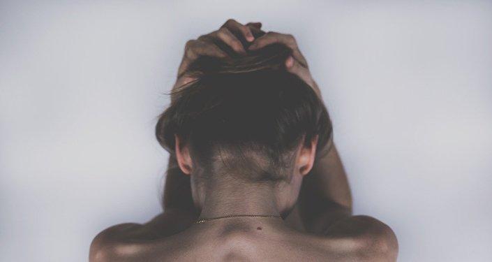 Una mujer deprimida