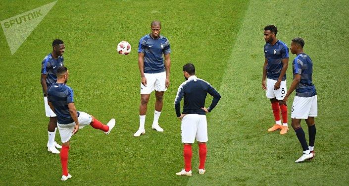 Antes del inicio del partido entre Argentina y Francia