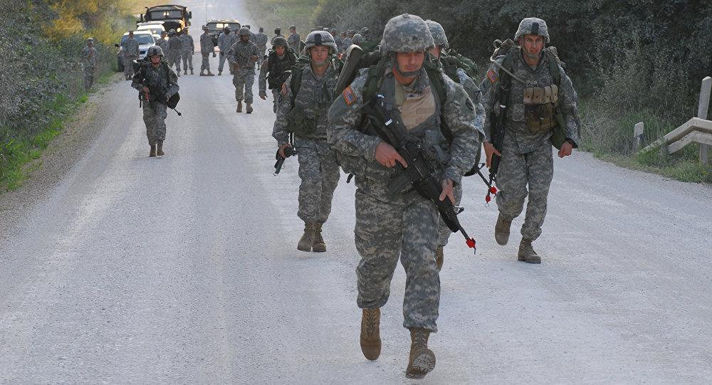 Militares estadounidenses en Alemania, foto de archivo