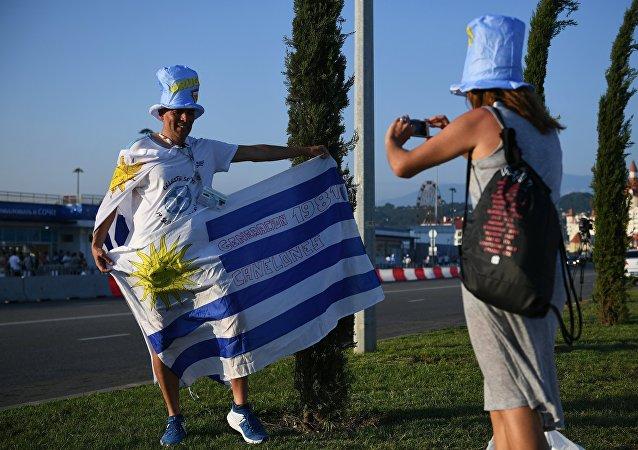 Hinchas uruguayos en Sochi