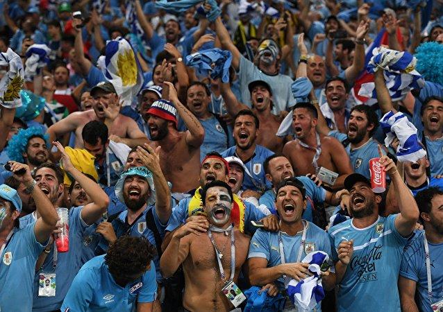 Hinchas uruguayos