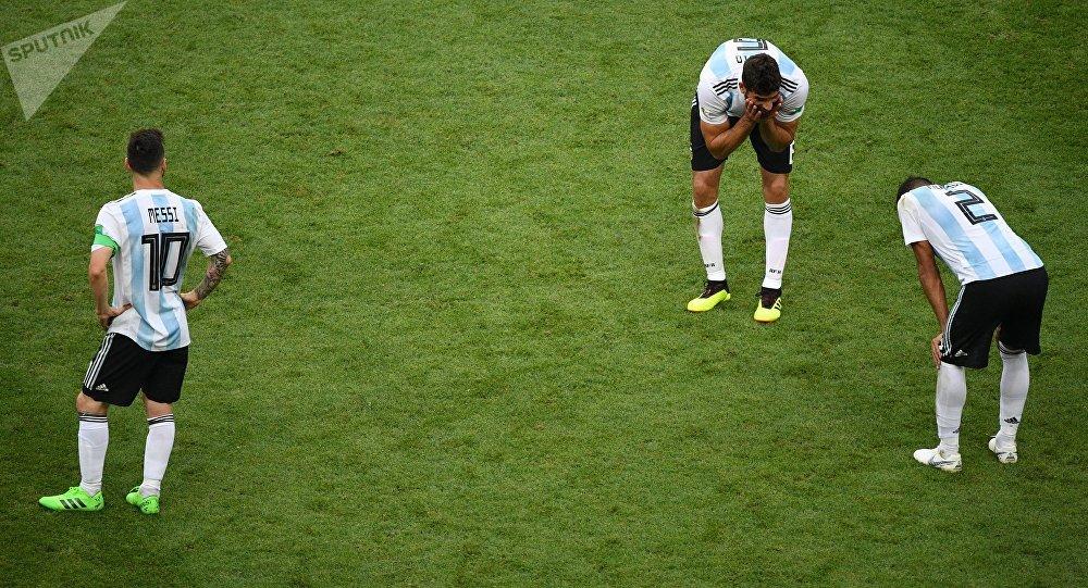 La selección argentina tras la derrota