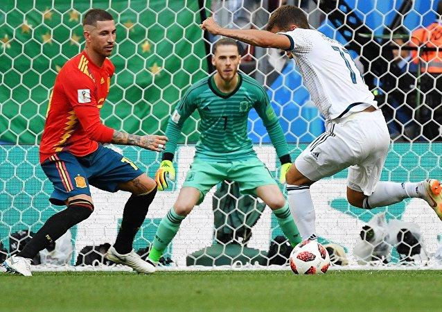 El partido entre Rusia y España
