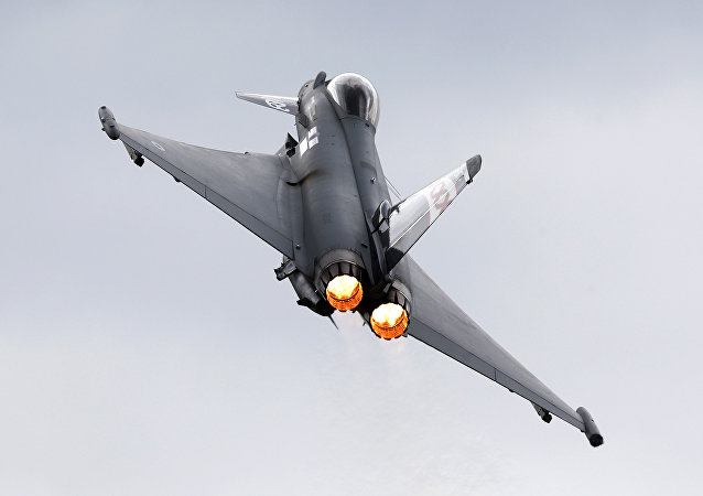 Un Eurofighter Typhoon (archivo)