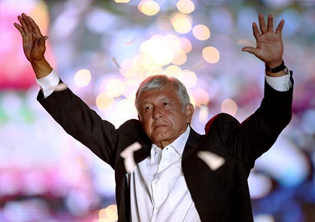 Andrés Manuel López Obrador, el candidato mexicano de izquierda para la presidencia de país