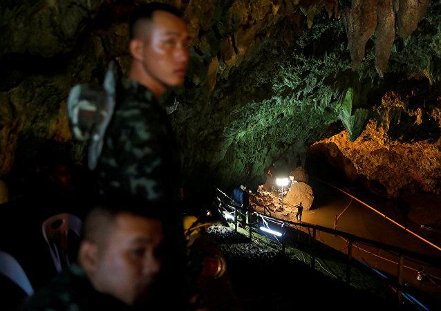 La operación del rescate en la cueva Tham Luang en Tailandia