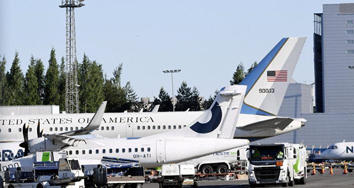 Aviones de la Administración de EEUU en el aeropuerto de Helsinki (archivo)