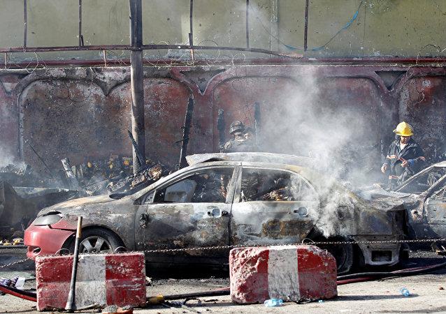Las consecuencias de la explosión en Jalalabad, Afganistán