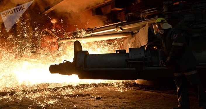 El horno de una planta siderúrgica (imagen referencial)