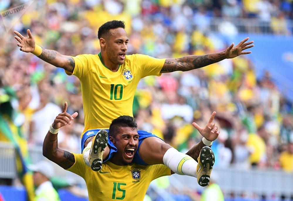 Jugadores de la selección de Brasil