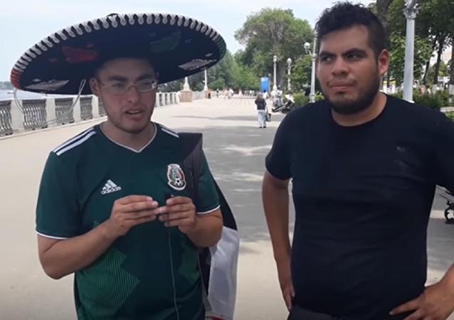 Los hinchas mexicanos