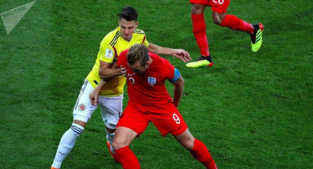 Colombia juega contra Inglaterra en los octavos del final