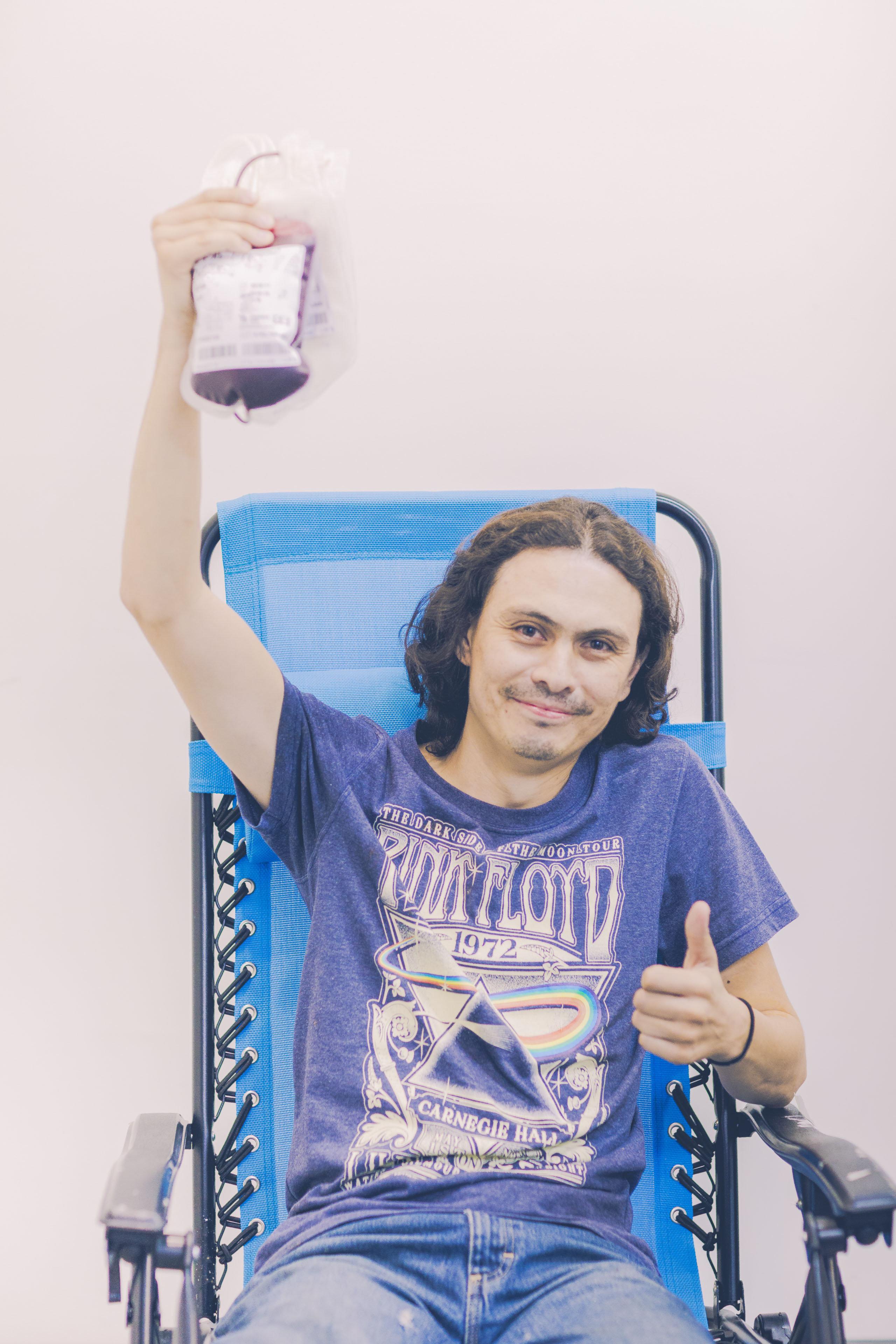 Un donante de sangre
