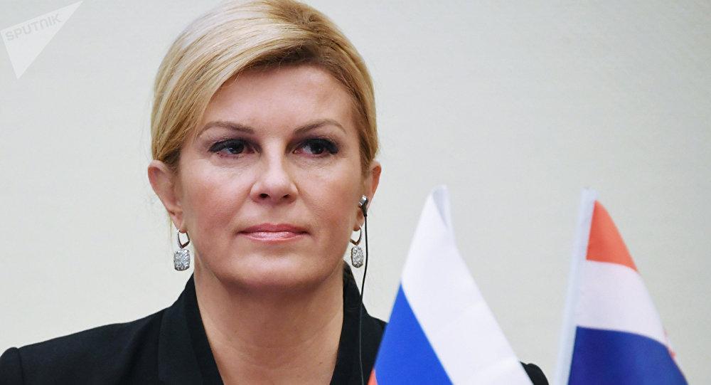La presidenta de Croacia, Kolinda Grabar-Kitarovic