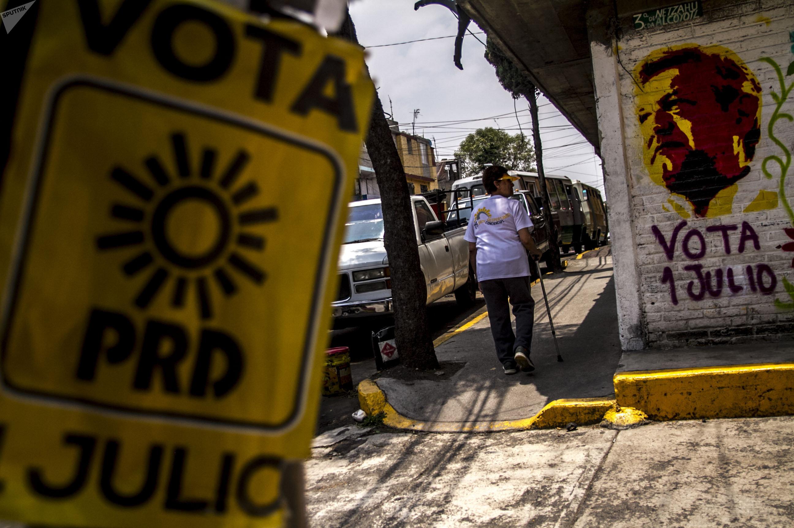 Las calles mexicanas durante la campaña electoral de 2018