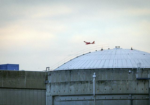Uno de los drones de Greenpeace sobre la central nuclear de Le Bugey el 3 de julio de 2018