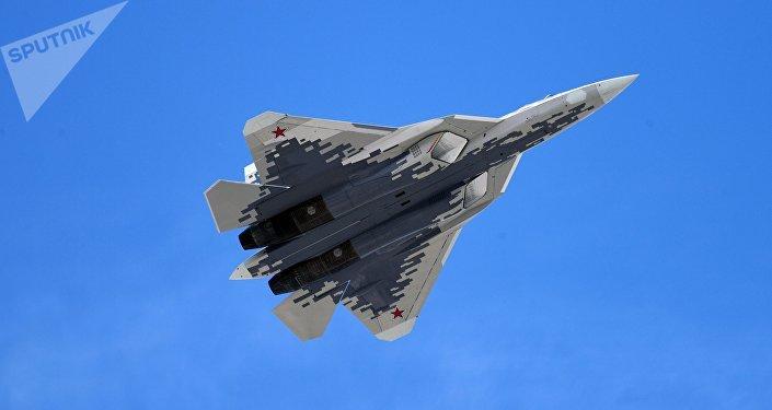 El Su-57 ruso (archivo)