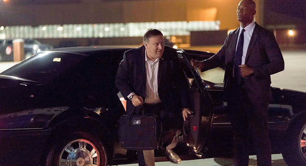 Mike Pompeo, secretario de Estado de EEUU arriba a Corea del Norte