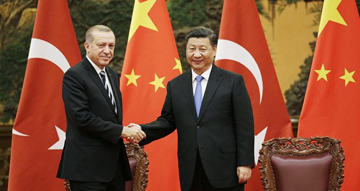 El presidente de Turquía, Recep Tayyip Erdogan, y el presidente de China, Xi Jinping (archivo)